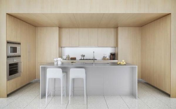 Thiết kế nhà bếp đối xứng