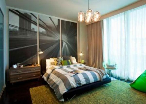 Trang trí phòng ngủ độc và lạ sử dụng tranh treo tường