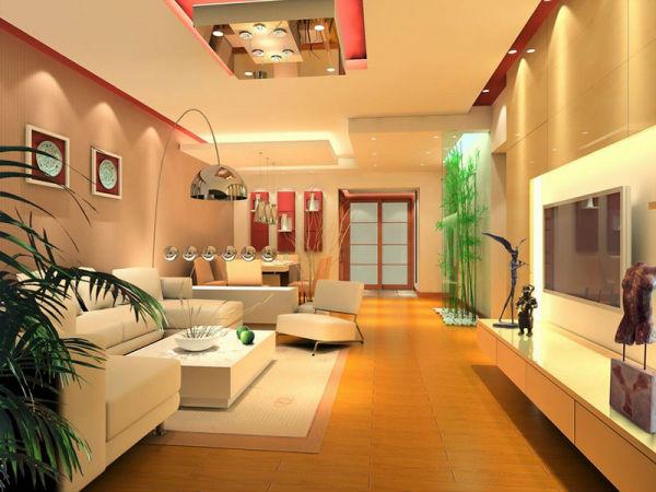 Hệ thống chiếu sáng trong phòng khách