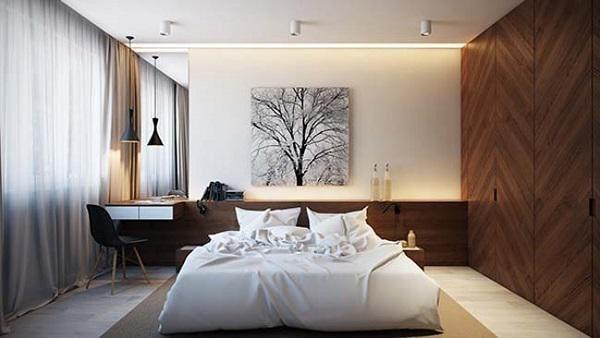Trang trí phòng ngủ với không gian thoáng đãng, hài hòa