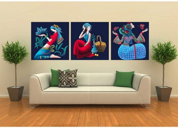 Treo lên tường một tác phẩm nghệ thuật tạo một không gian sống động hơn