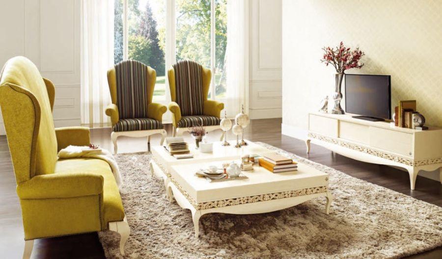 Phòng khách mang phong cách tân cổ điển