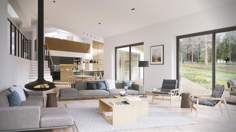 Không gian nội thất phòng khách ấn tượng
