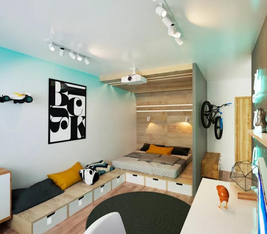 Nội thất cho không gian nhỏ hẹp - Các ngăn gỗ được thiết kế tích hợp rất tinh tế và tiện lợi