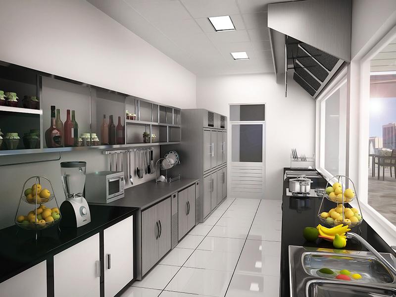 thiết kế phòng bếp theo phong thủy