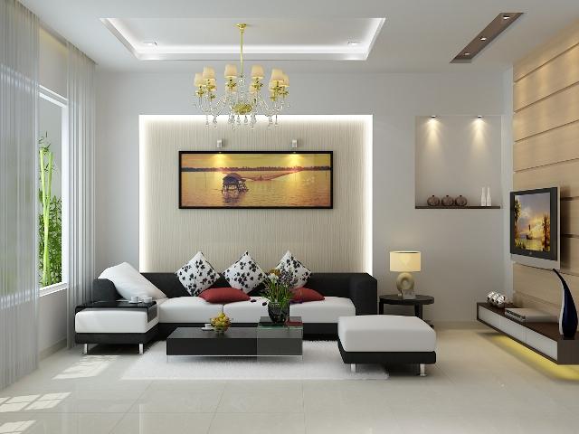 Màu sắc của phòng khách cần mang ý nghĩa chủ đạo