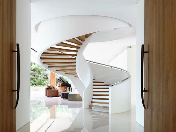 Xu hướng thiết kế nội thất phòng khách đẹp có cầu thang