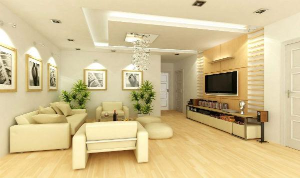 Phòng khách nhỏ nhưng tiện nghi và hiện đại