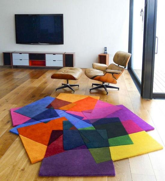 Thảm trải sàn ấn tượng nhiều màu sắc