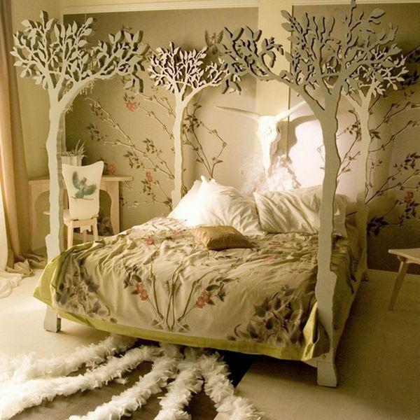 Chiếc giường với thiết kế vô cùng ấn tượng về thiên nhiên