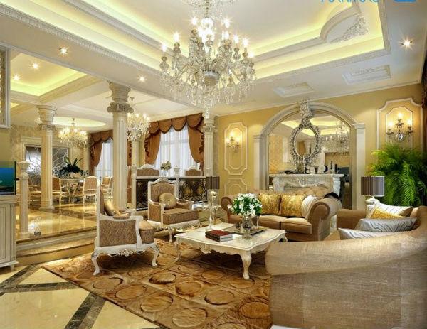 Trang trí phòng khách theo xu hướng nội thất Châu Âu