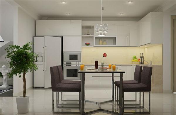 Thiết kế một chậu cây xanh vào gian bếp giúp không gian nhà bạn có thêm sức sống mới