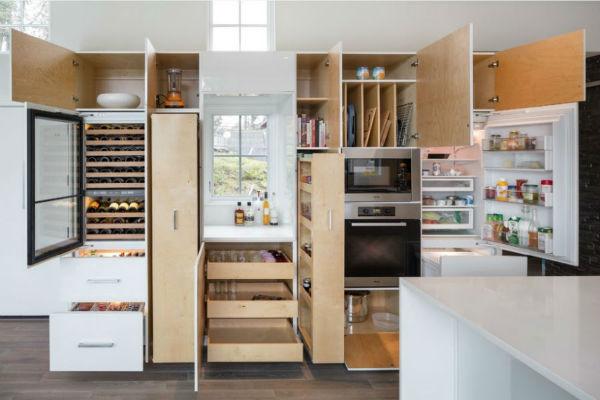 Sử dụng tủ bếp đa năng cho những ngôi nhà nhỏ