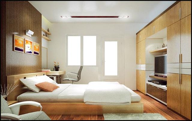 Cách thiết kế nội thất phòng ngủ 15m2 tiện nghi
