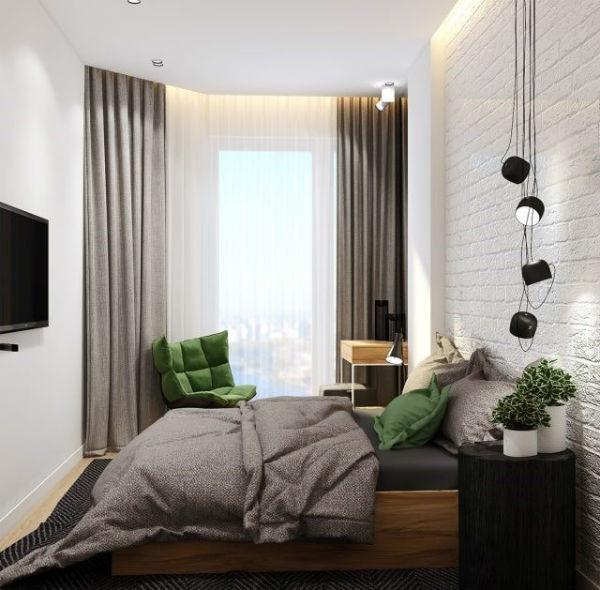 Hạn chế đồ nội thất và sử dụng màu sắc tối giản