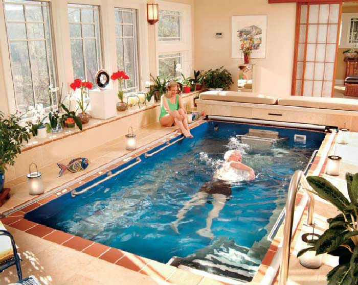 Một Số Thiết Kế Hồ Bơi Mini Trong Nhà Phố