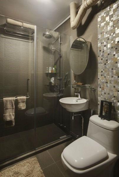 Phòng tắm với gam màu trầm đầy cảm hứng