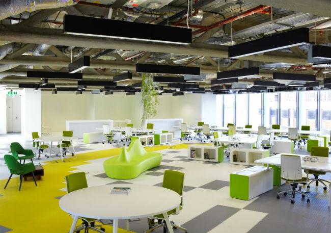 Không gian nội thất văn phòng - Kết hợp xen kẽ nhiều phong cách kết cấu kác nhau