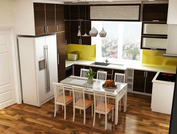 Cách bố trí nhà bếp đúng sẽ tạo ra không gian cho người nội trợ nấu nướng dễ dàng.