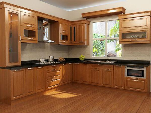 Trang trí nội thất bếp kiểu chữ L