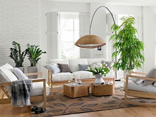 Phòng khách kết hợp với thiên nhiên