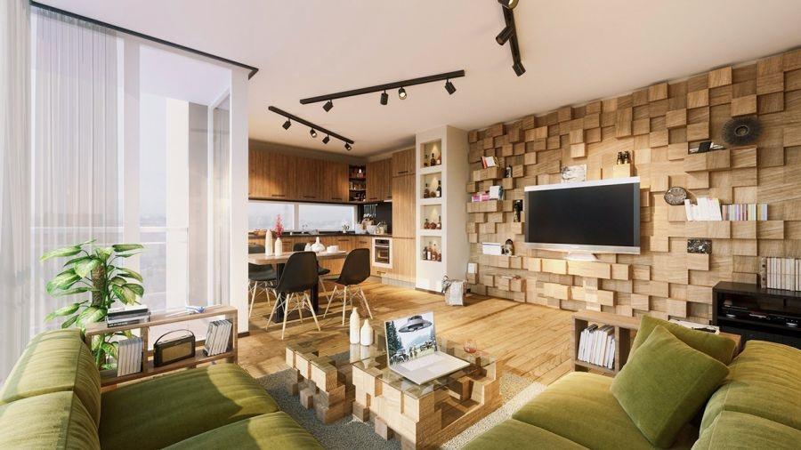 Thiết kế phòng cách với nội thất gỗ