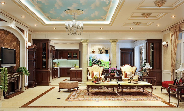 Một không gian nội thất mang đến sự thanh cao như các tầng lớp quý tộc
