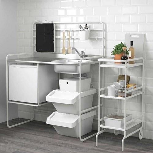 Nội thất cho không gian nhỏ hẹp - Mô hình bếp mini hạn chế chiếm dụng diện tích