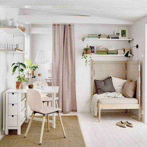 Nội thất cho không gian nhỏ hẹp - Bàn gấp ít chiếm diện tích hơn bình thường