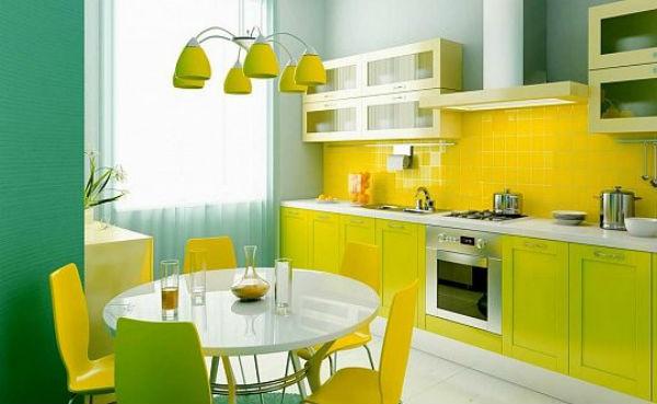 Nhà bếp rực rỡ giúp ngôi nhà sinh động hơn