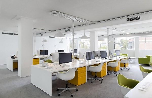 Mẹo vặt trang trí nội thất văn phòng bằng ánh sáng