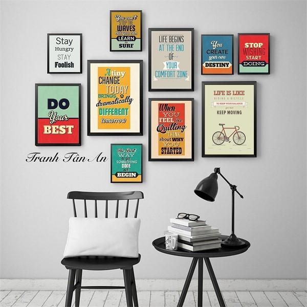 Thiết kế nội thất văn phòng sáng tạo với tranh treo tường