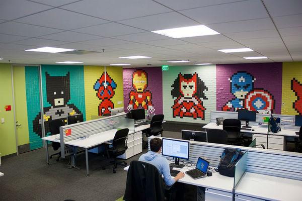 Việc trang trí văn phòng độc lạ sẽ thúc đẩy tốt được tinh thần làm việc