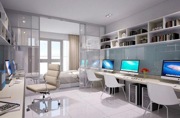 Thiết kế nội thất văn phòng làm việc kết hợp nhà ở