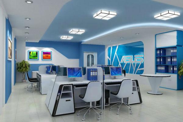 Thiết kế nội thất văn phòng với hiệu ứng trang trí tường