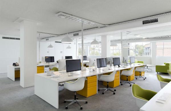 Thiết kế văn phòng làm việc theo hướng đối xứng