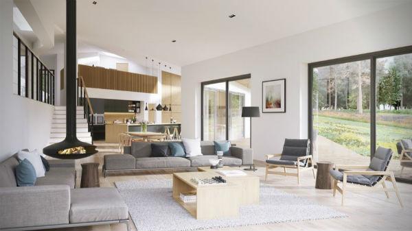 Trang trí nhà với màu sắc kết hợp ánh sáng