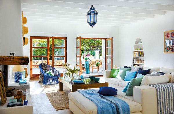 Trang trí phòng khách theo xu hướng nội thất Địa Trung Hải