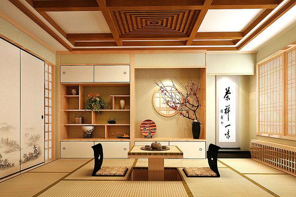 Trang trí phòng khách theo xu hướng nội thất  Nhật Bản