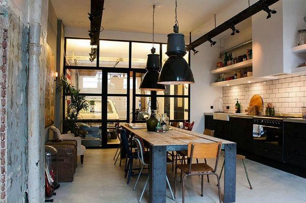 Thiết kế nhà theo phong cách công nghiệp