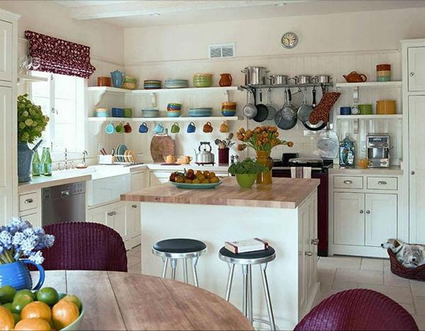 Trang trí nội thất bếp bằng kệ trao – kệ để đồ