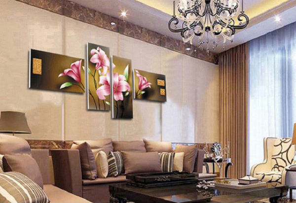 Sử dụng những bức tranh có chiều sâu, mang ý nghĩa may mắn thịnh vượng cho ngôi nhà