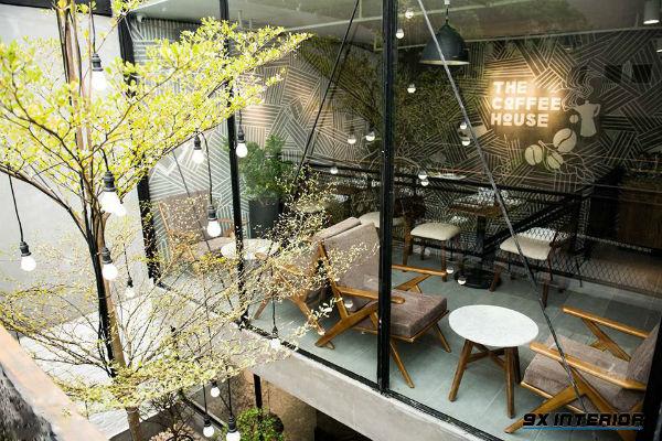 Trang trí quán cafe bằng kính để mở rộng không gian và tầm nhìn