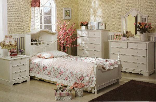 Thiết kế nội thất phòng ngủ phong cách đồng quê Pháp