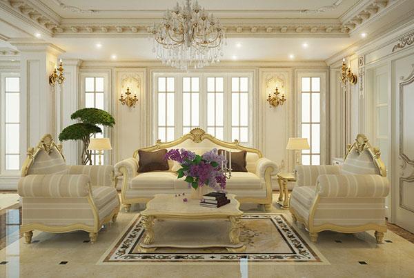 Thiết kế nội thất sang trong theo kiểu Pháp