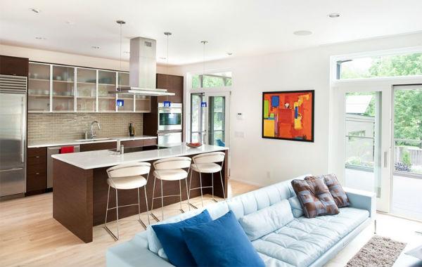 Thiết kế ngôi nhà với không gian mở hạn chế  vách ngăn tạo cảm giác rộng rãi hơn