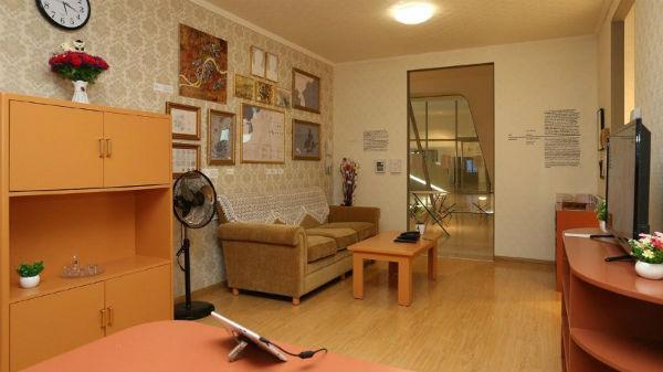 Thiết kế nội thất phòng khách cho ngôi nhà theo phong cách Hàn Quốc