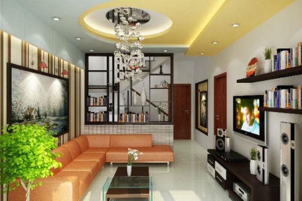 Phòng khách được xem như bề mặt của ngôi nhà vì thế rất được chú trọng