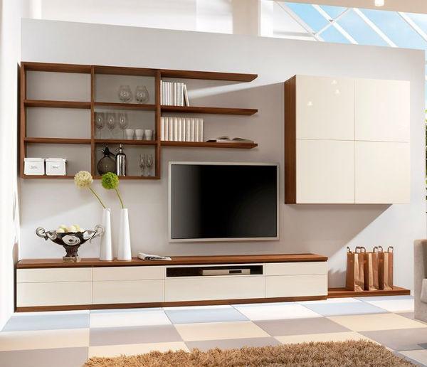 Kệ tivi kết hợp kệ trang trí tạo thêm không gian cất giữ đồ đạc