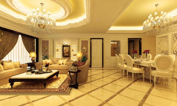Phòng khách nội thất phong cách Châu Âu sang trọng